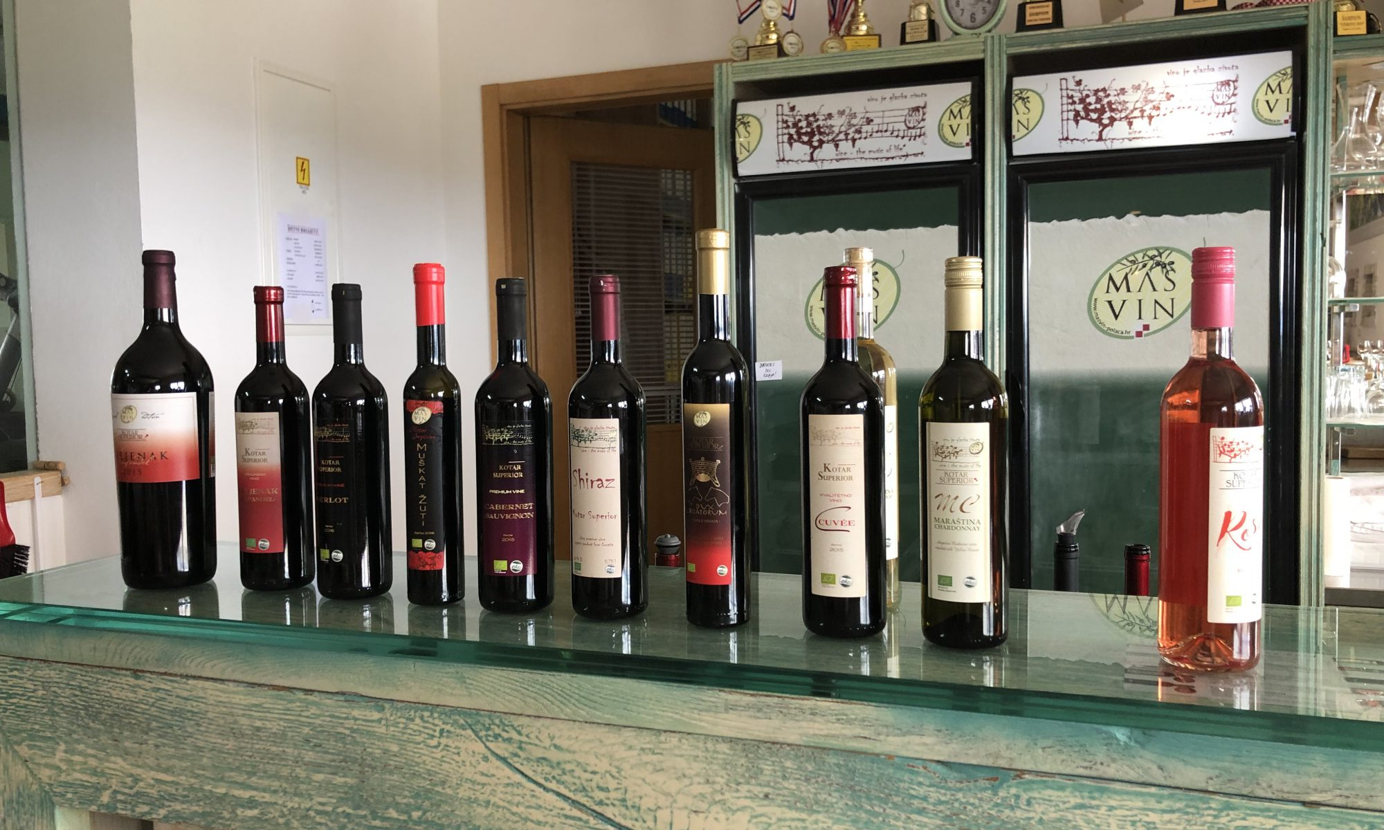 A collection of Mas Vin current selection.