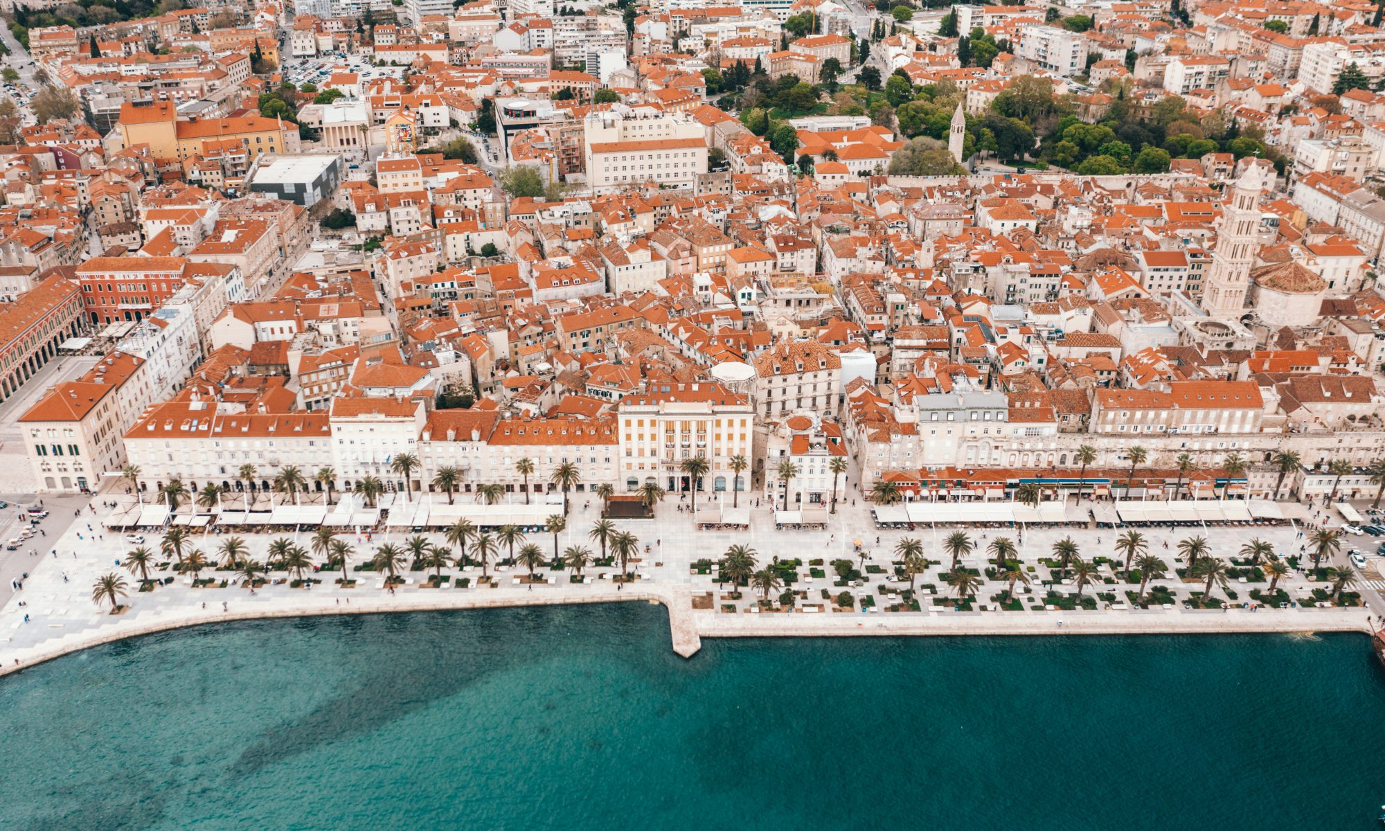 Areal view of Split, Croatia by Spencer Davis